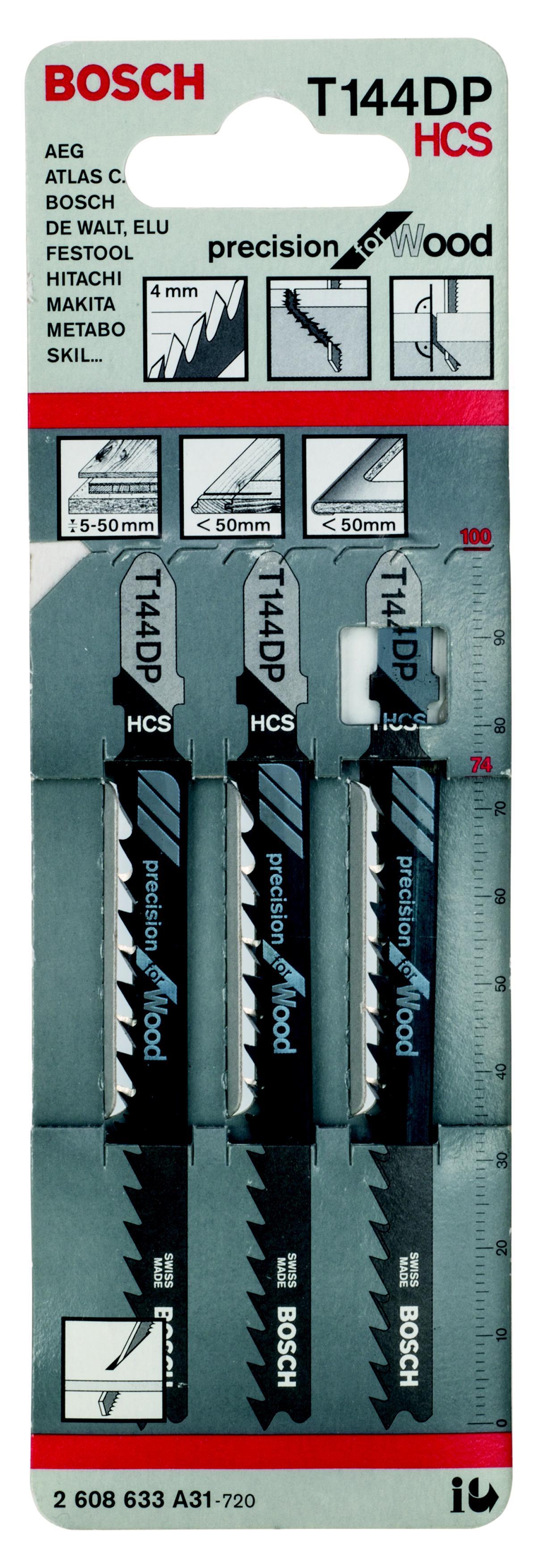 Купить Пилки для лобзика Bosch T144dp (2.608.633.a31), Швейцария