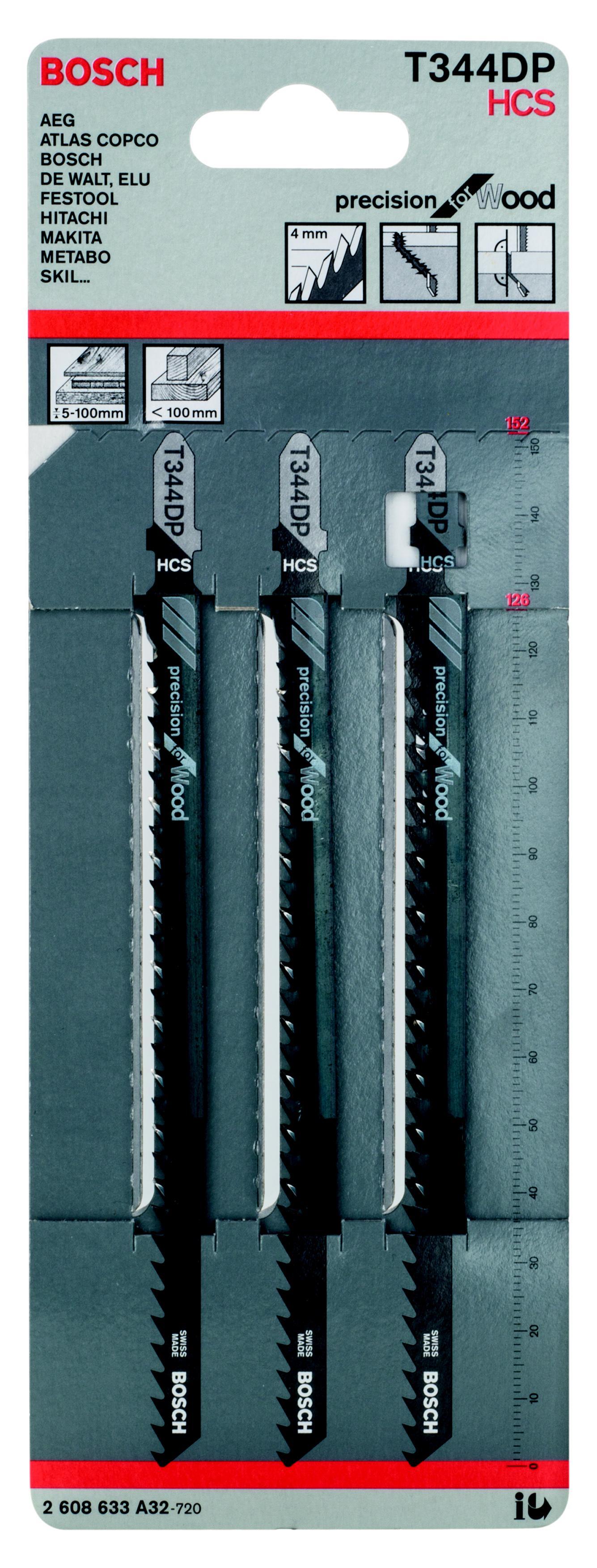Купить Пилки для лобзика Bosch T344dp (2.608.633.a32), Швейцария
