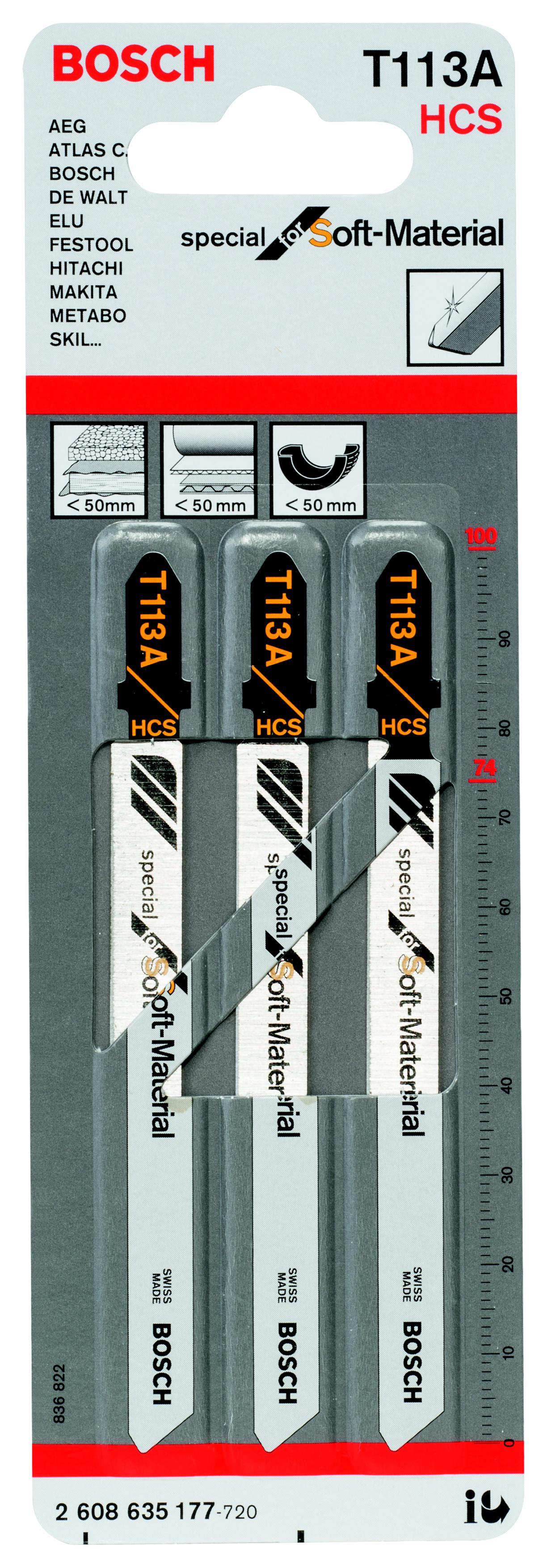 Купить Пилки для лобзика Bosch T113a (2.608.635.177), Швейцария