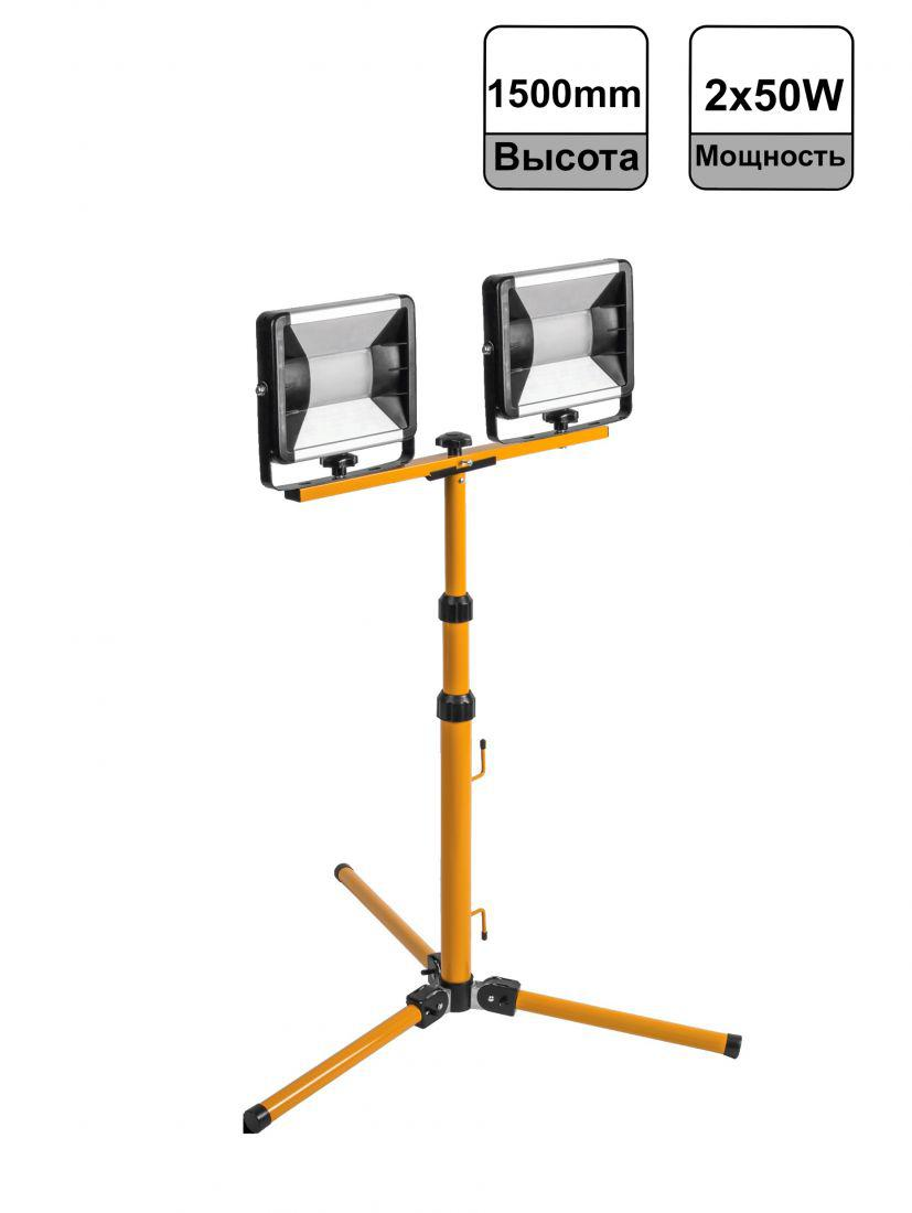 Прожектор светодиодный ОНЛАЙТ 61997 ofl-01-2x50-4k-gr-ip65-led-tri