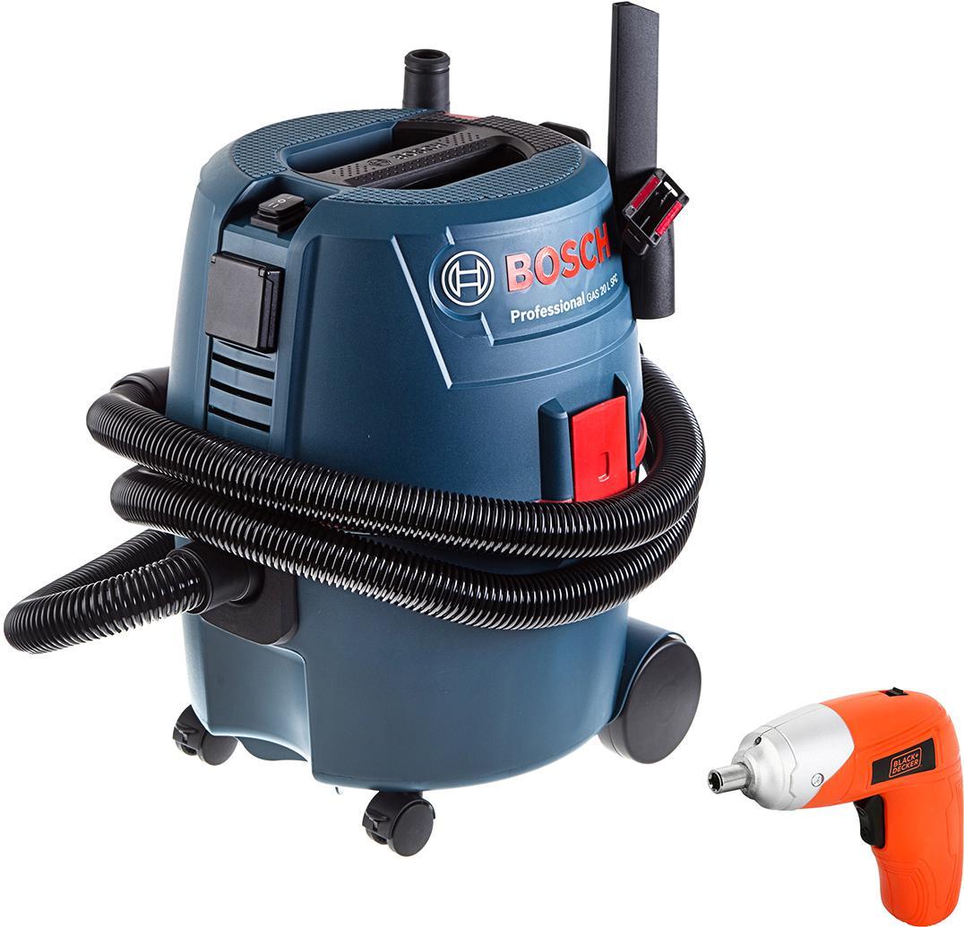 Набор Bosch Пылесос gas 20 l sfc (0.601.97b.000) +Отвертка аккумуляторная kc3610-ru пылесос bosch bsm 1805 ru