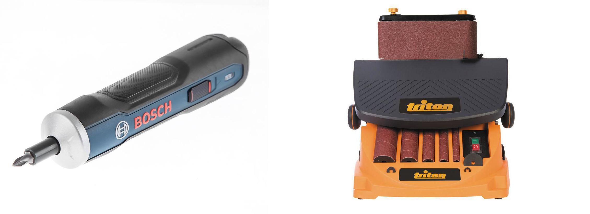 Набор Triton Станок шлифовальный tr894303 +Отвертка аккумуляторная go kit 0.601.9h2.021