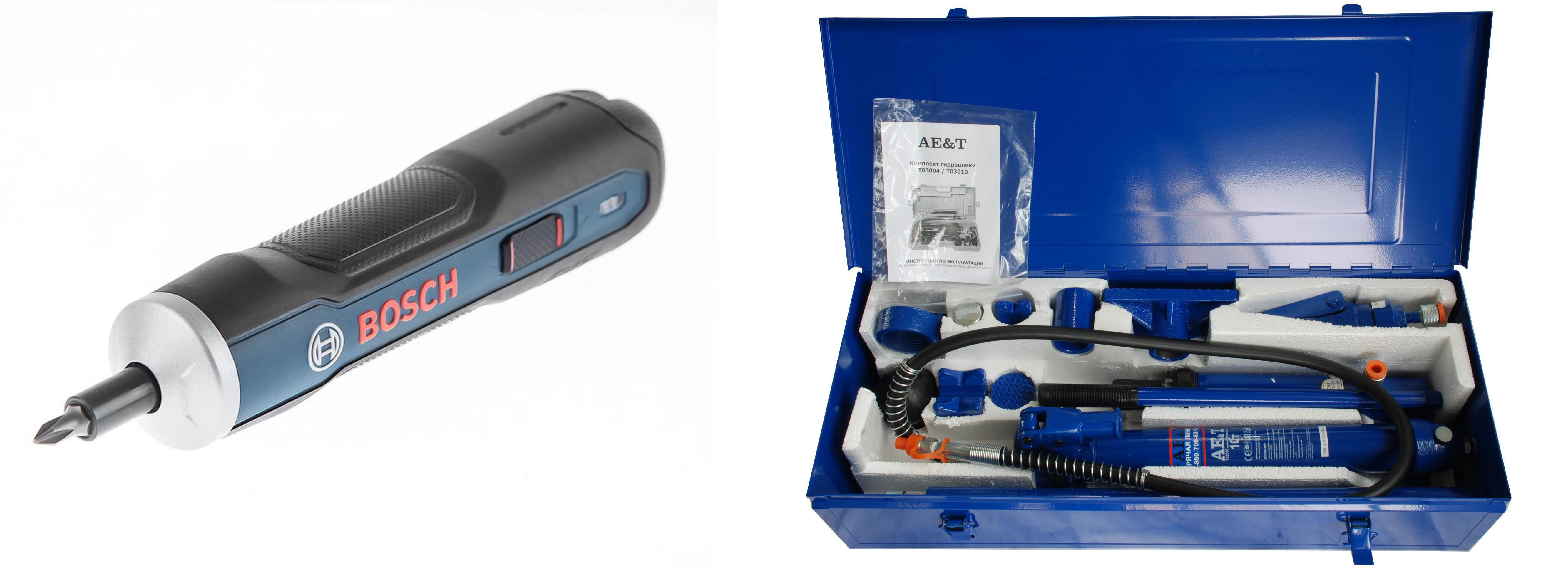 Набор Ae&t рихтовочный t03010 +Отвертка аккумуляторная go kit 0.601.9h2.021