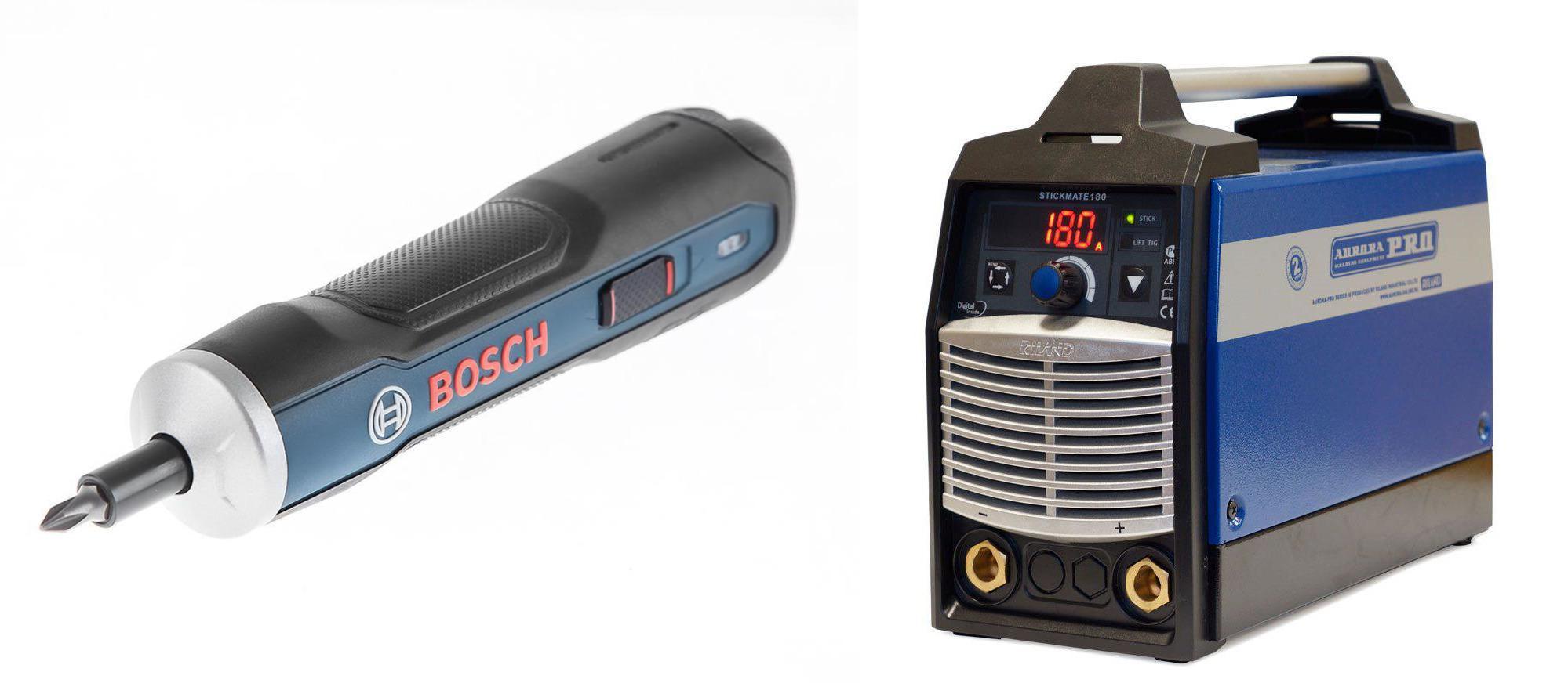 Набор Aurora pro Сварочный аппарат stickmate 180 +Отвертка аккумуляторная go kit 0.601.9h2.021