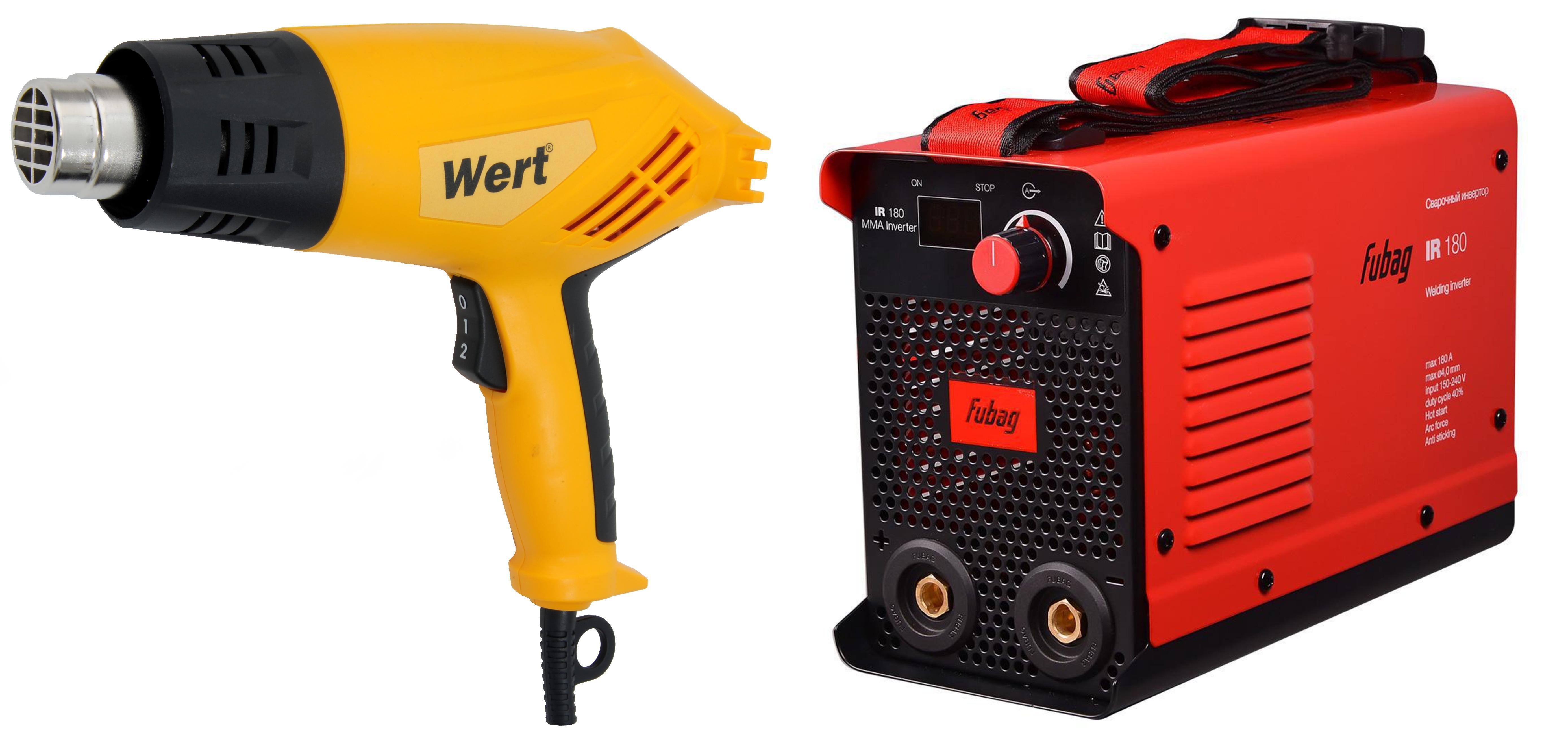 Набор Fubag Сварочный аппарат ir 180 (31402) +Фен технический ehg 1800