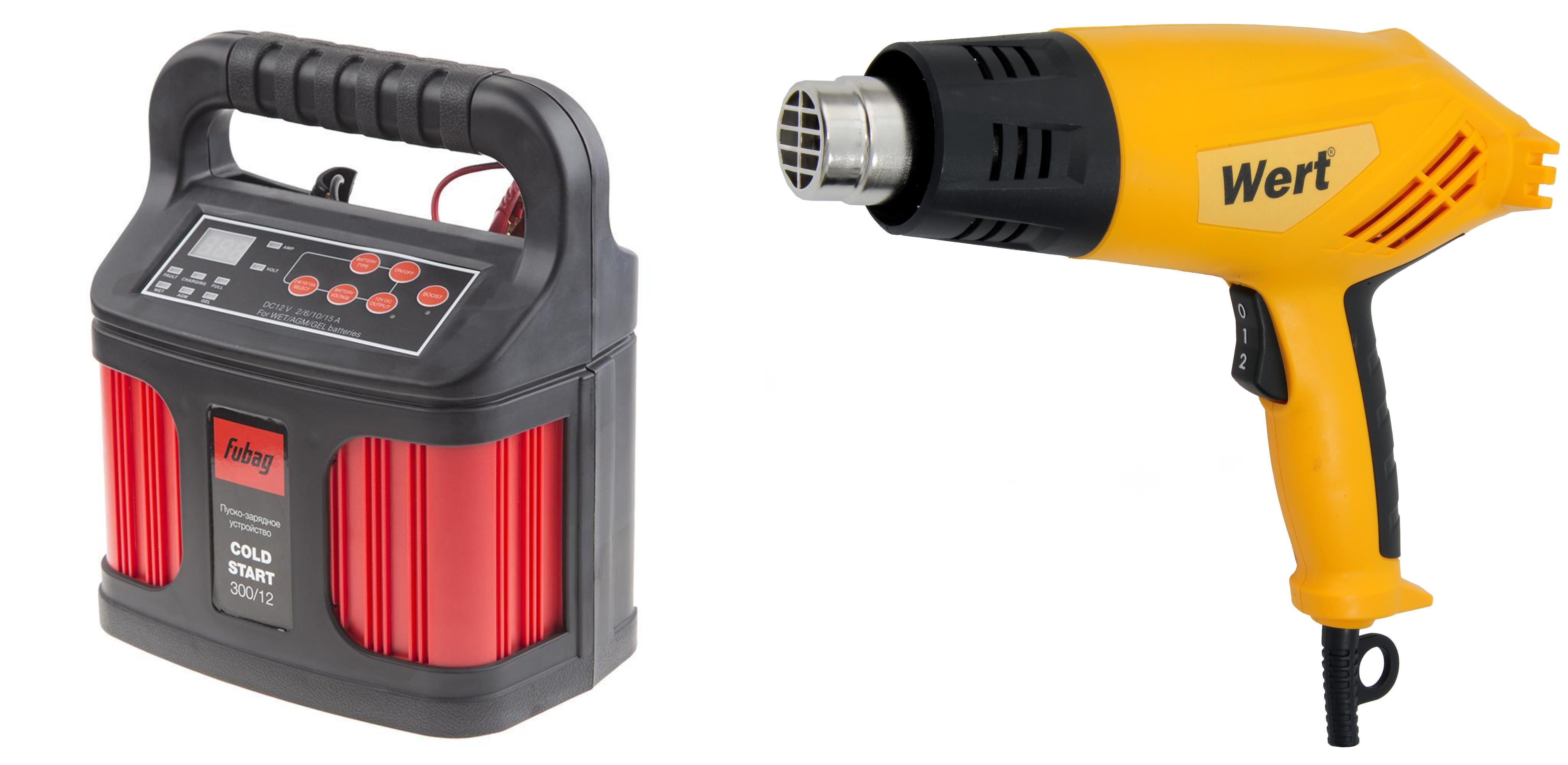 Набор Fubag Устройство пуско-зарядное cold start 300/12 +Фен технический ehg 1800 устройство зарядное fubag micro 80 12 4а