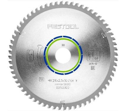 Диск пильный FESTOOL Ф216х30мм 64зуб. (500122)
