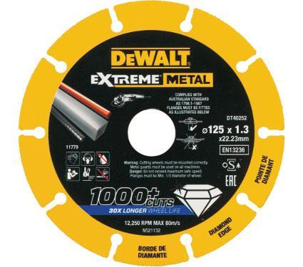 Круг алмазный DEWALT (DT40252-QZ) Ф125х22.2мм по металлу