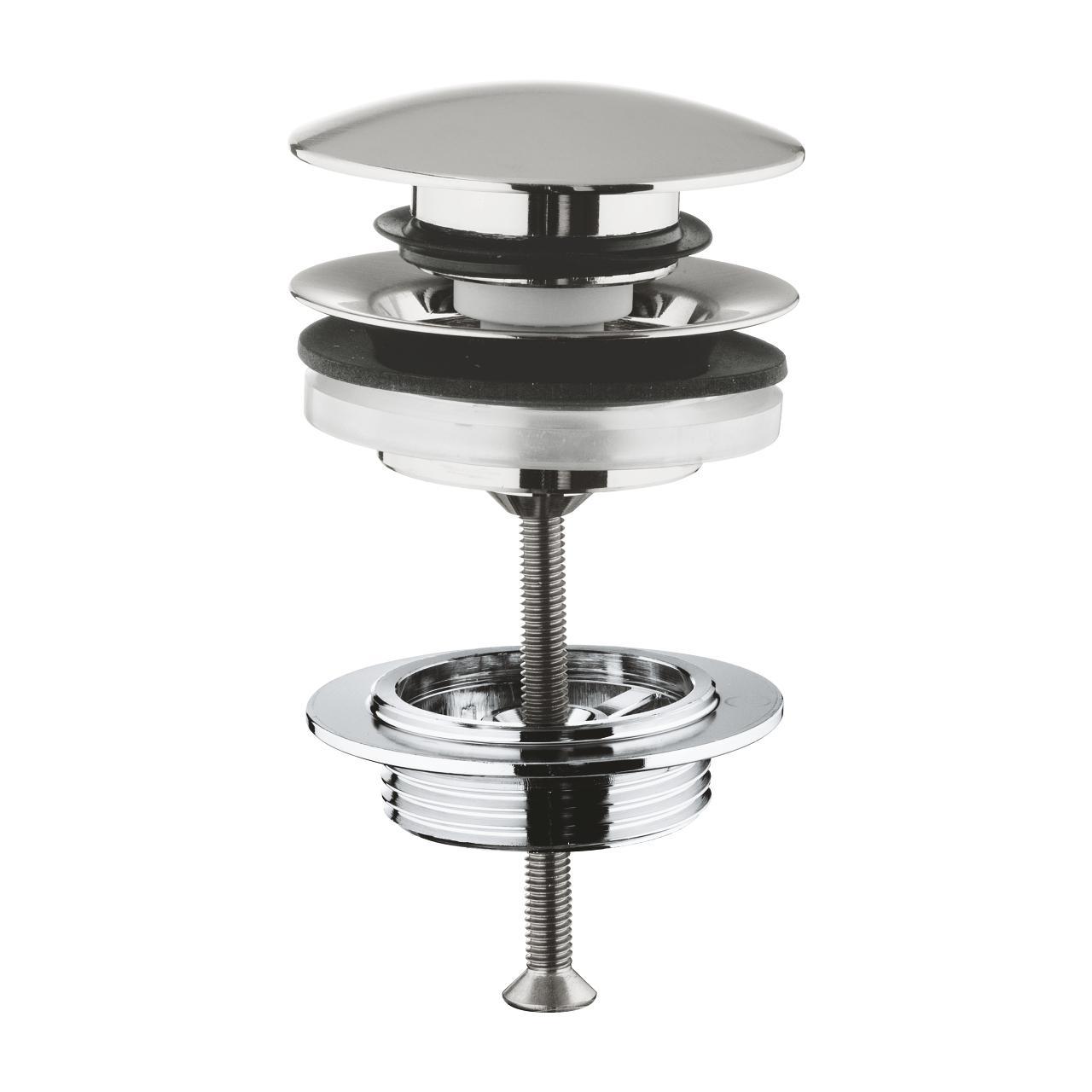 Донный клапан Grohe 65807dc0 донный клапан для смесителей для раковины биде grohe белый 28910l00