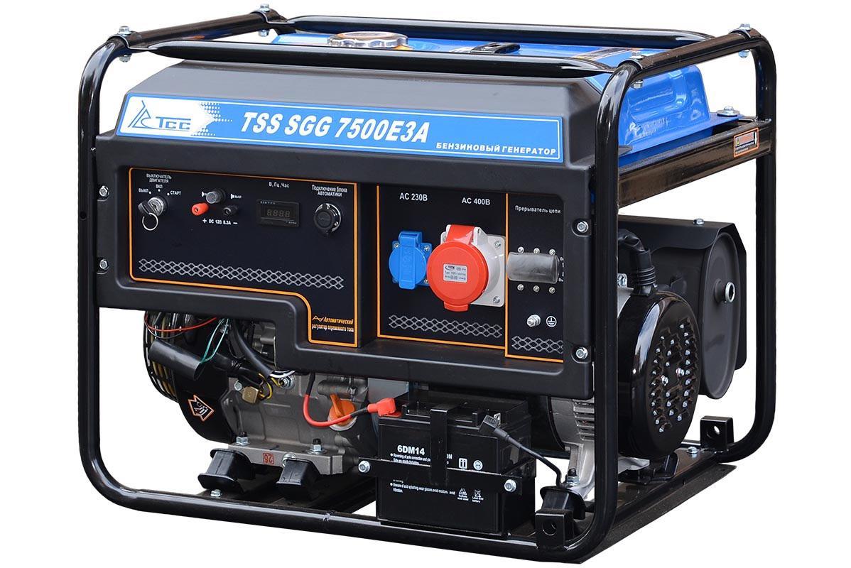 Бензиновый генератор ТСС Sgg 7500Е3a генератор бензиновый tss sgg 7000e