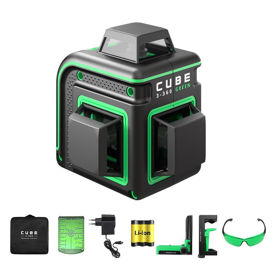 Фото - Уровень лазерный Ada Cube 3-360 green home Еdition a00566 лазерный уровень ada cube 3 360 green home edition