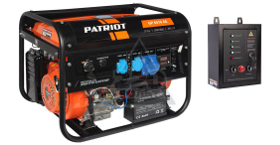 Блок АВР в подарок при покупке генератора PATRIOT