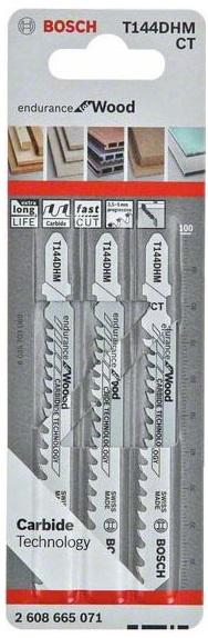 Пилки для лобзика Bosch T144dhm endurance for wood (2608665071)
