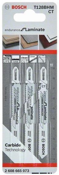 Пилки для лобзика Bosch T128bhm endurance for laminate (2608665073)
