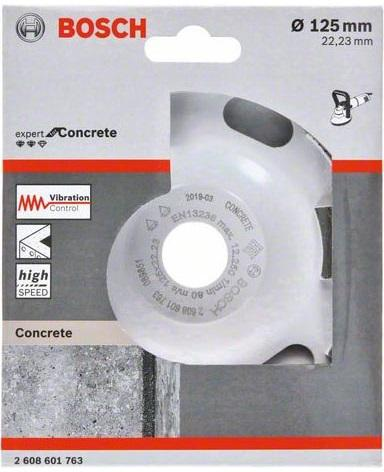 Чашка шлифовальная Bosch Ф125х22мм по бетону/бетонной основе (expert for concrete 2608601763)