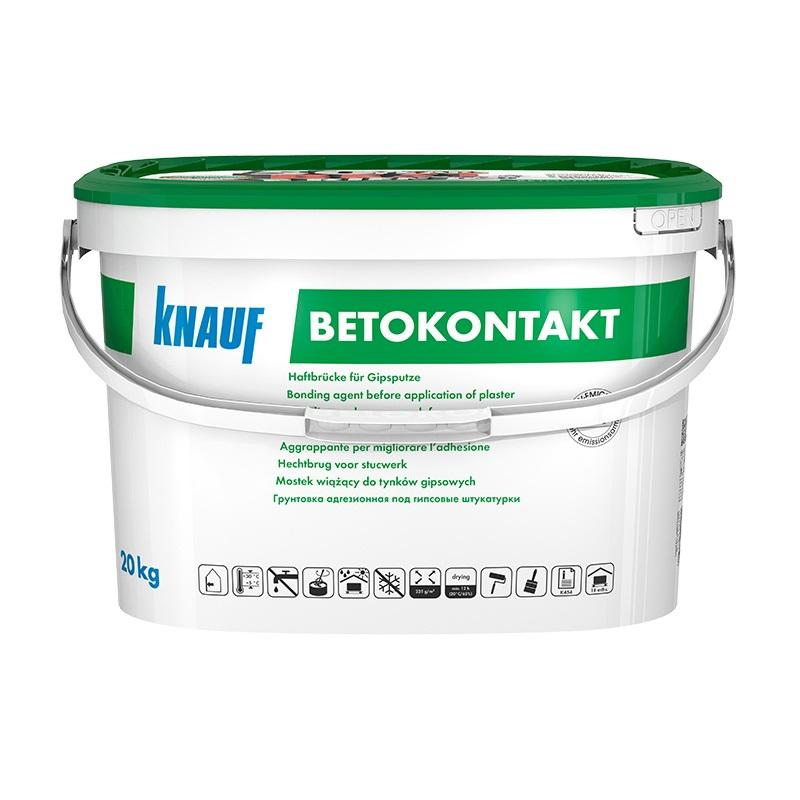 Грунтовка Knauf Бетоконтакт 20кг для гипсовых штукатурок фото