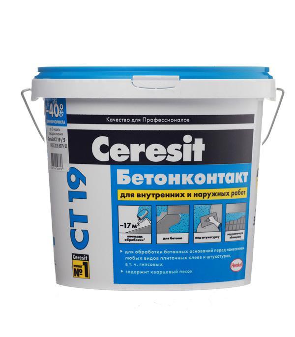 Грунтовка Ceresit Ct19 Бетонконтакт 5кг