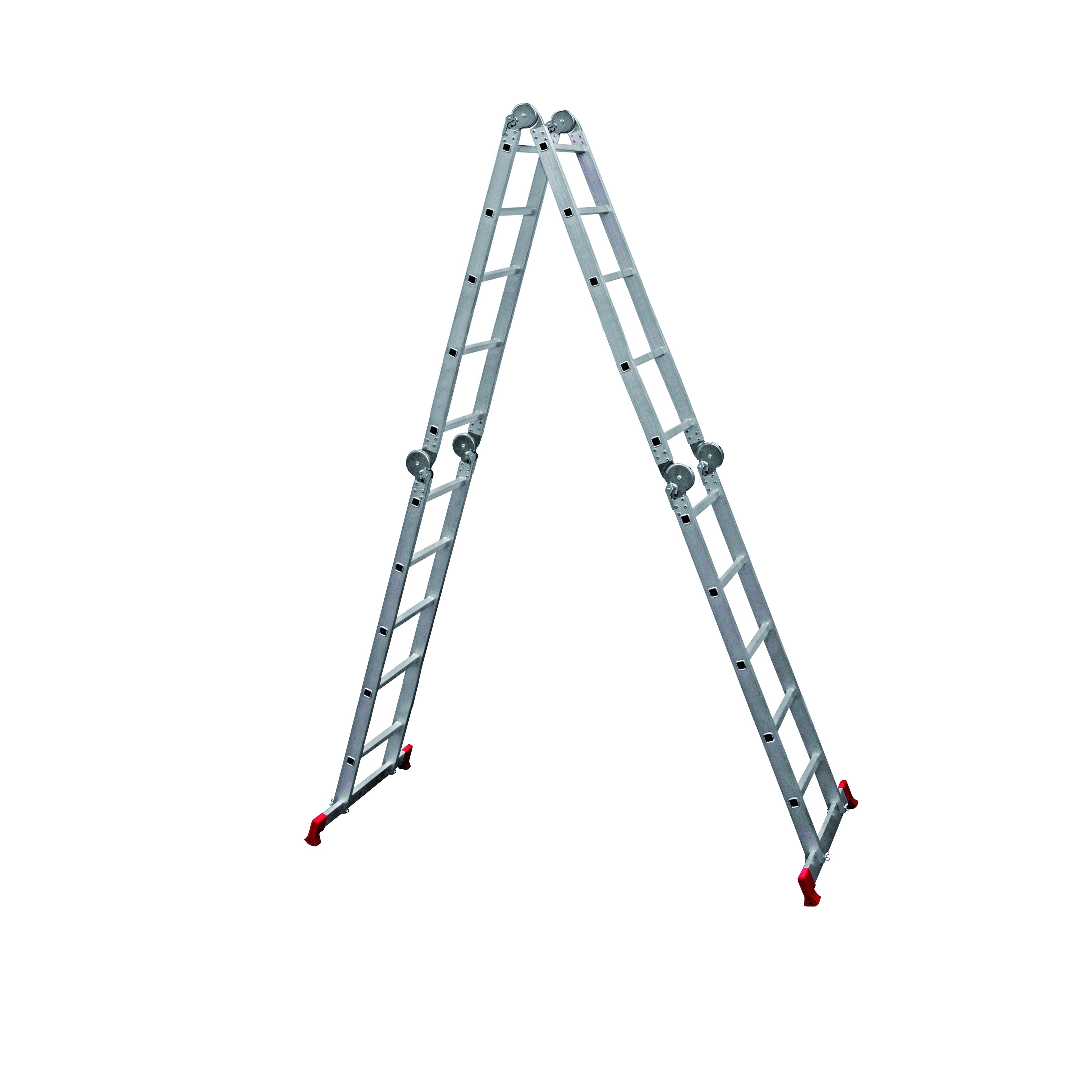 Лестница алюминиевая складная НОВАЯ ВЫСОТА 4х5 цена
