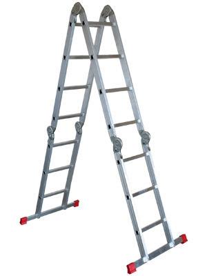 Фото - Лестница-трансформер НОВАЯ ВЫСОТА 4х3 лестница трансформер шарнирная профи 4 секции по 4 ступени 1 алюмет