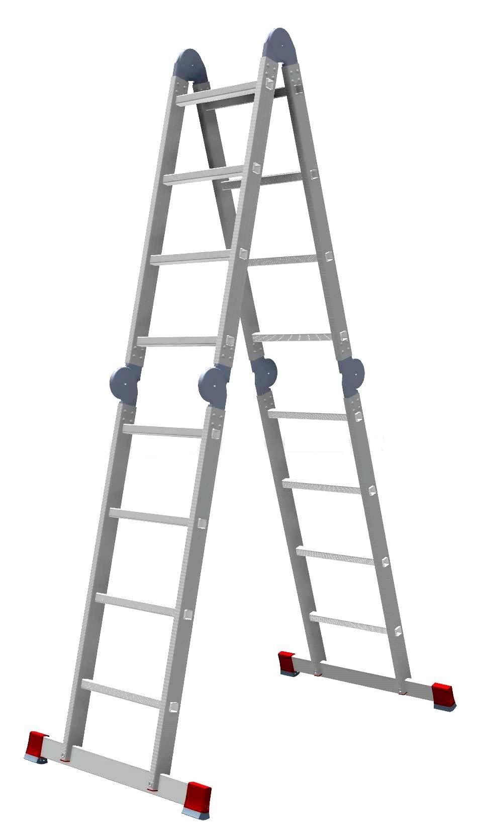 купить Лестница-трансформер НОВАЯ ВЫСОТА 4х4 604404 дешево