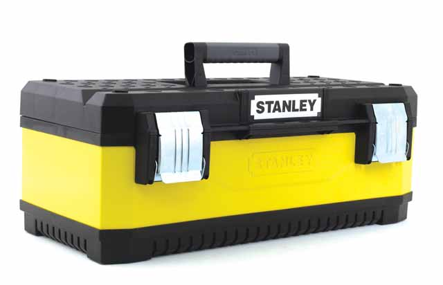 Ящик для инструментов Stanley Yellow metal plastic toolbox  23 stanley basic toolbox 1 79 218