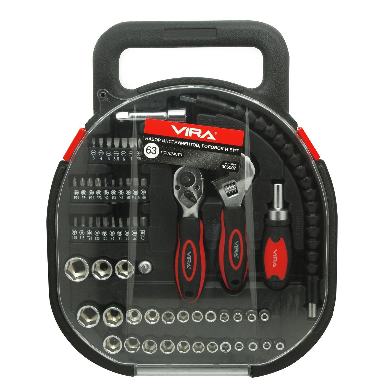 Набор инструментов для дома, 62 предмета Vira 305007 ключ разводной truper pet