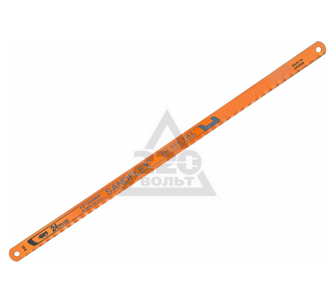 Полотно для ручной ножовки BAHCO 3906-300-24-100 24 зуб/дюйм