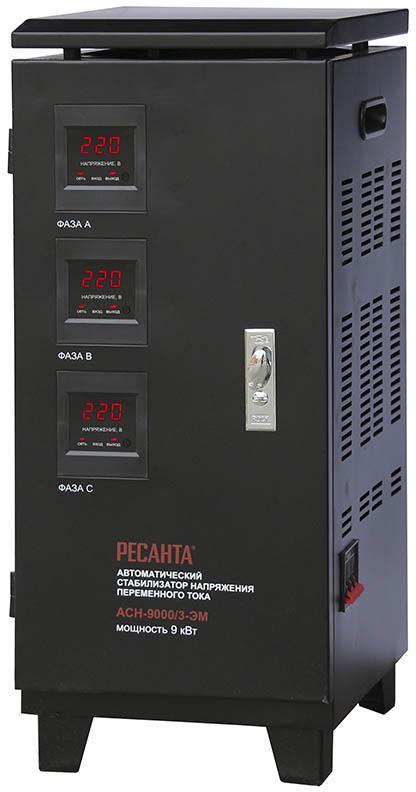 Стабилизатор напряжения РЕСАНТА АСН-9000/3-ЭМ стабилизатор напряжения ресанта асн 20000 3 эм