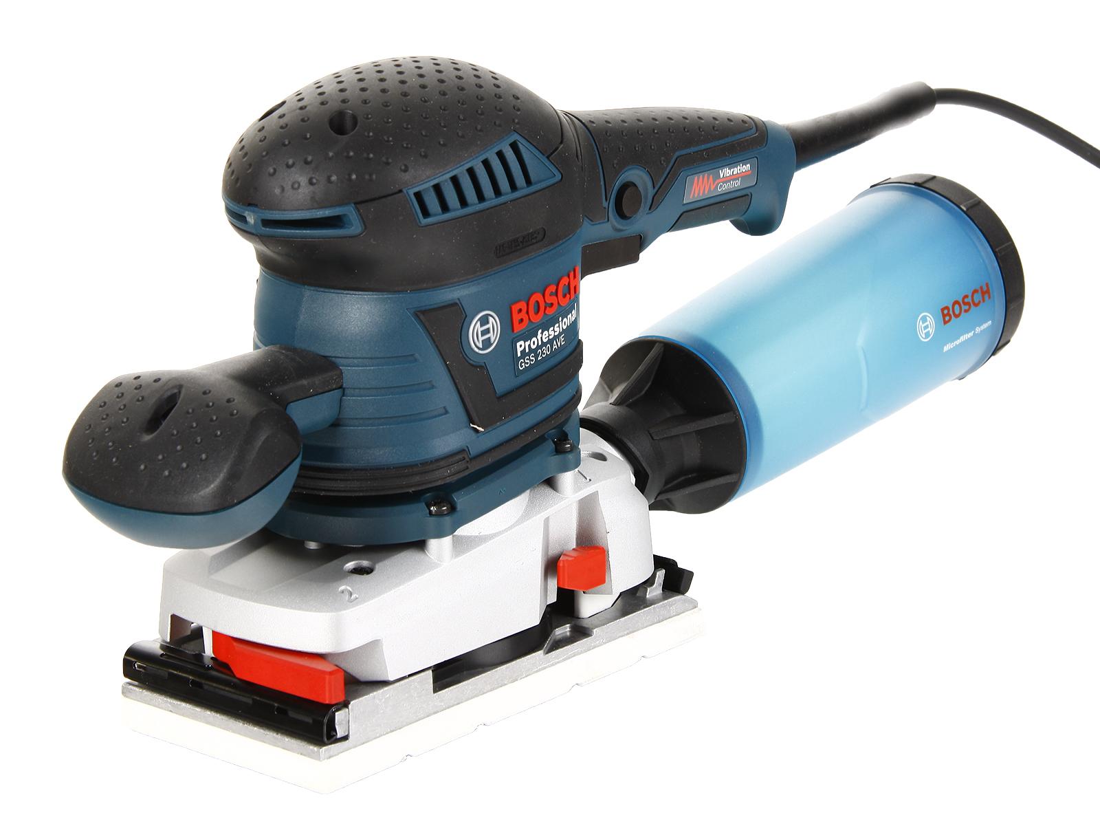 Машинка шлифовальная плоская (вибрационная) Bosch Gss 230 ave (0.601.292.802) виброшлифмашина bosch gss 23 a 0 601 070 400