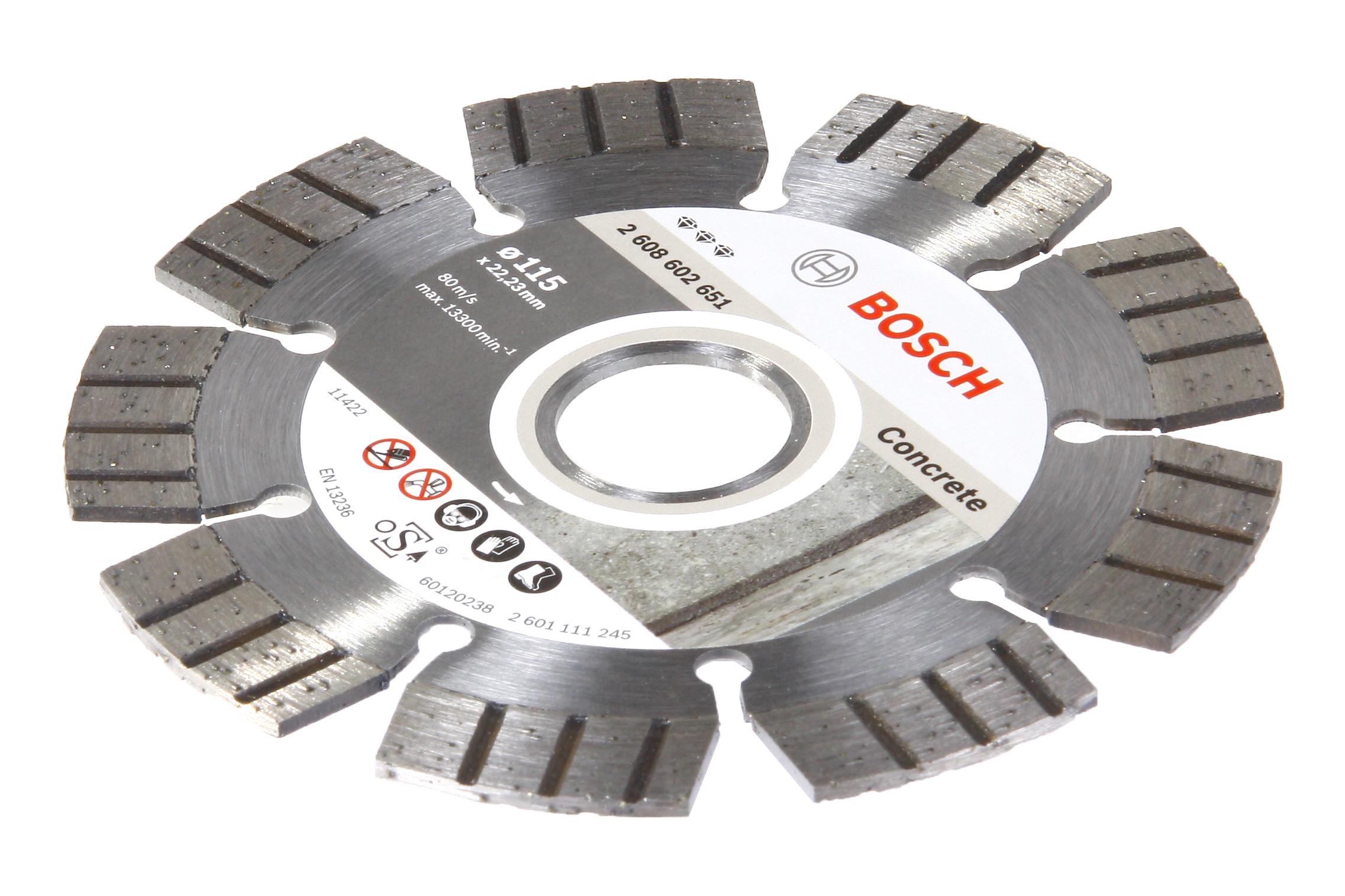 Круг алмазный Bosch Best for concrete 115x22 сегмент (2.608.602.651) bosch best for concrete unc 1 4 2600116066
