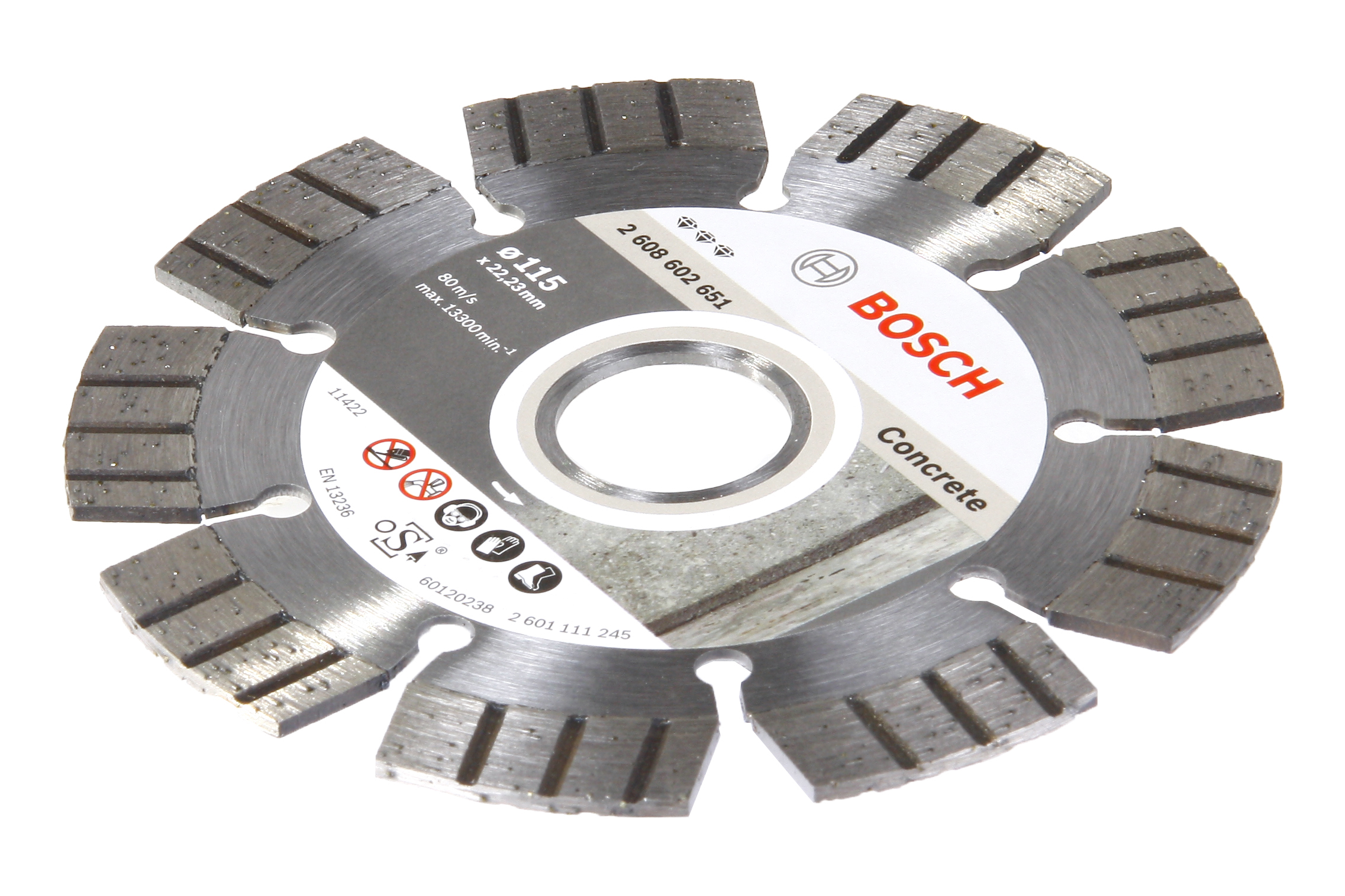 Круг алмазный Bosch Best for concrete 125x22 сегмент (2.608.602.652) диск отрезной алмазный турбо 125х22 2mm 20007 ottom 125x22 2mm