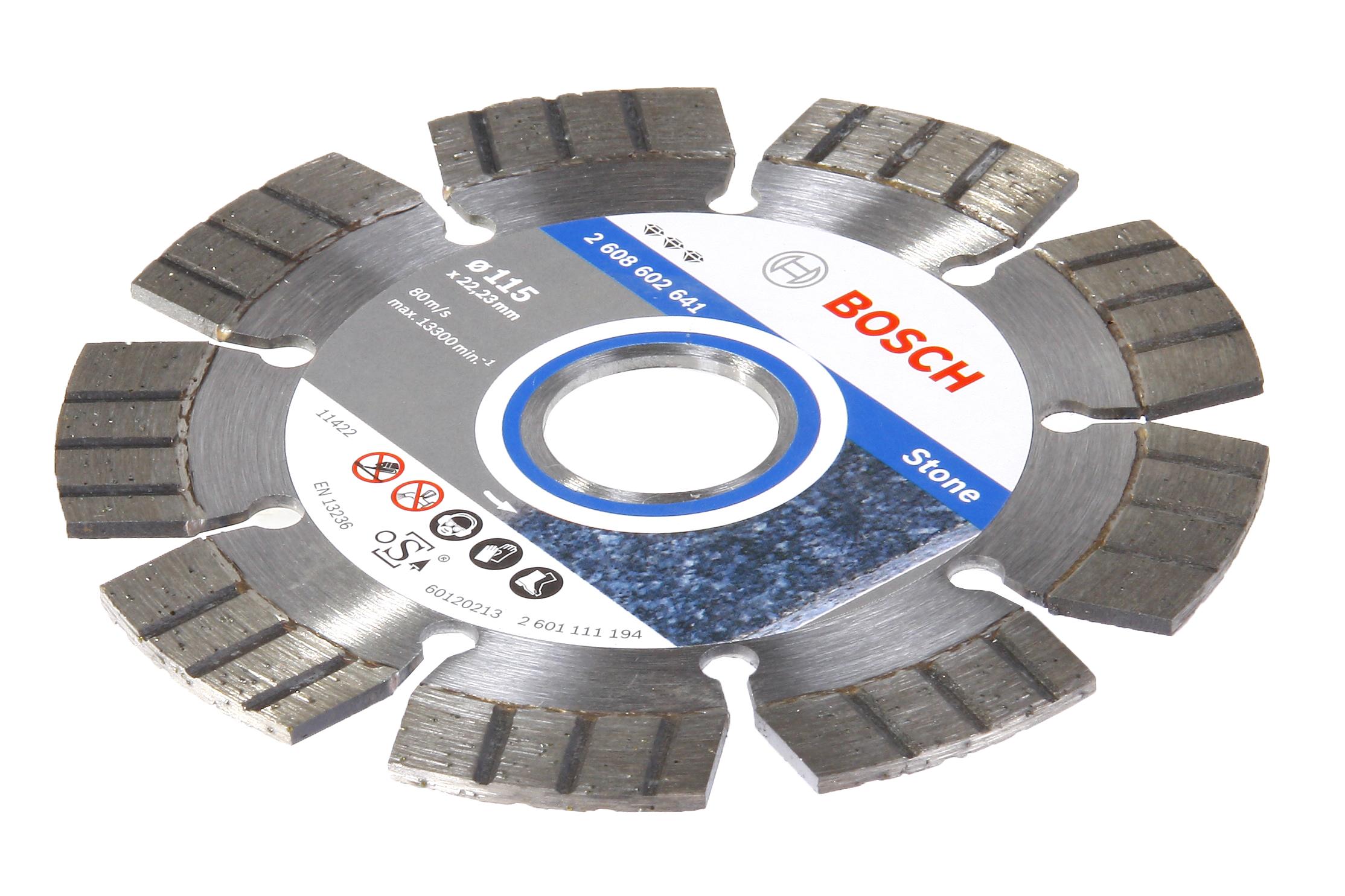 Круг алмазный Bosch Best for stone 115x22 сегмент (2.608.602.641) круг отрезной hammer flex 115 x 1 0 x 22 по металлу и нержавеющей стали 25шт