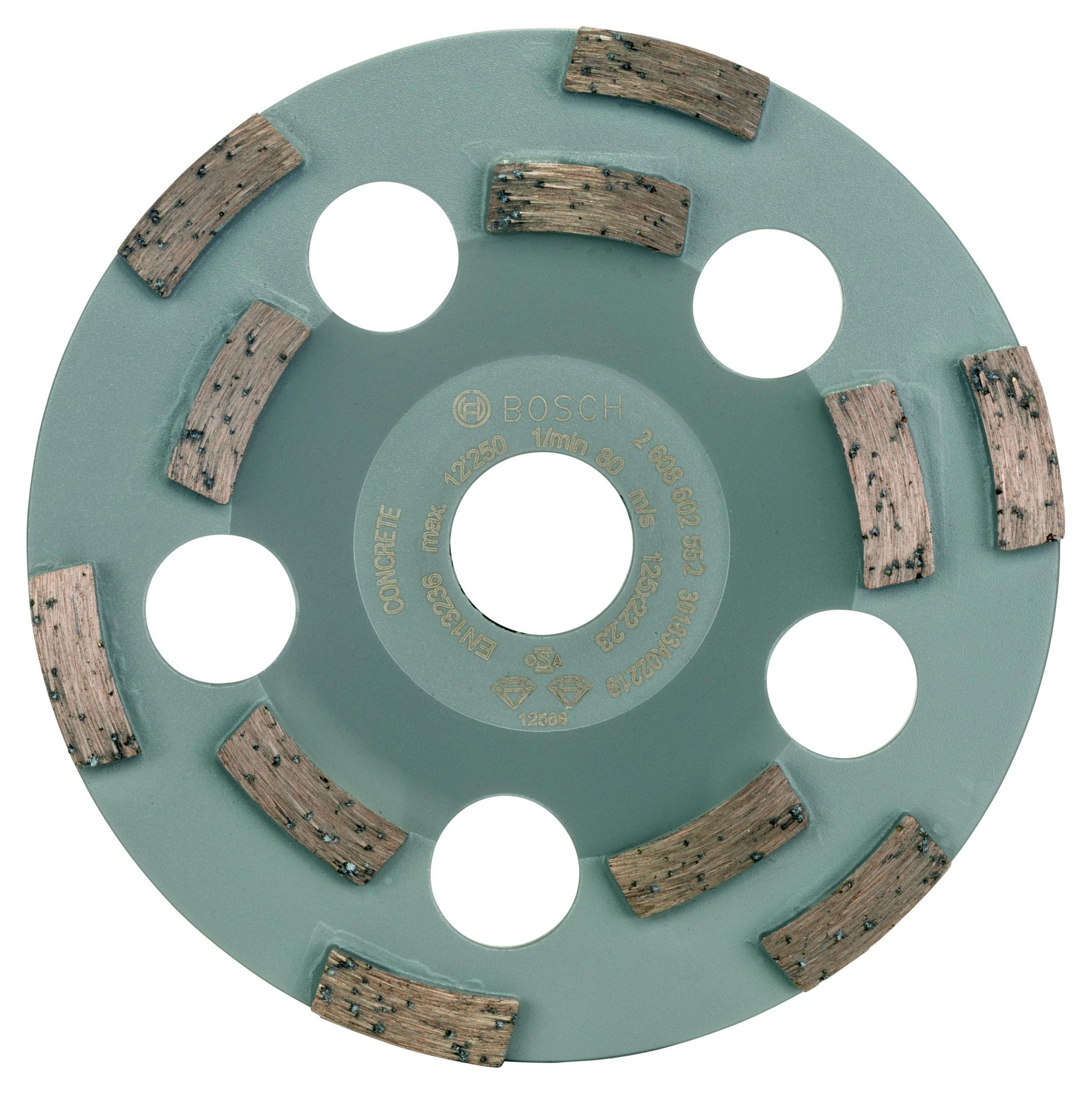 Фото - Чашка шлифовальная Bosch Expert for concrete 125x22 (2.608.602.552) [супермаркет] jingdong геб scybe фил приблизительно круглая чашка установлена в вертикальном положении стеклянной чашки 290мла 6 z