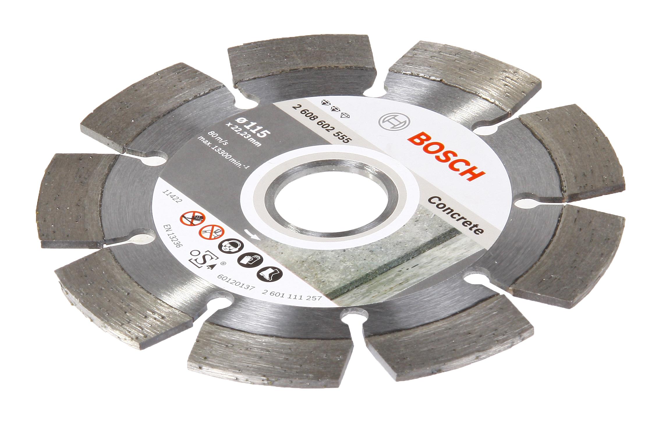 Круг алмазный Bosch Expert for concrete 115x22 сегмент (2.608.602.555) круг алмазный bosch expert for concrete 450x25 4 сегмент 2 608 602 563