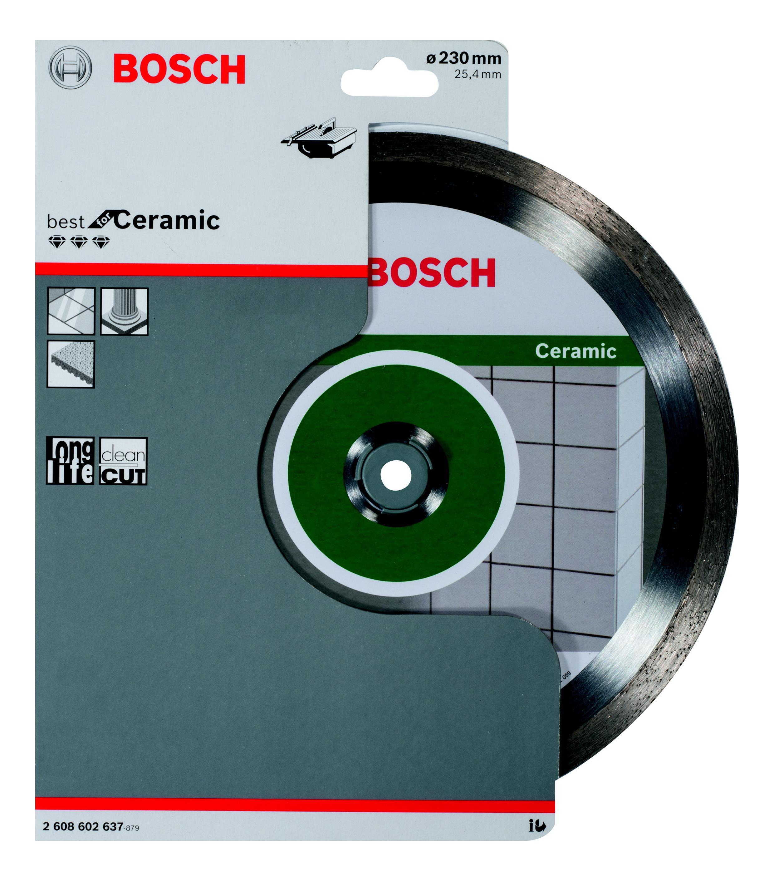 Круг алмазный Bosch Best for ceramic 230x25.4 корона (сплошной)(2.608.602.637) автомобильную тв антенну корона