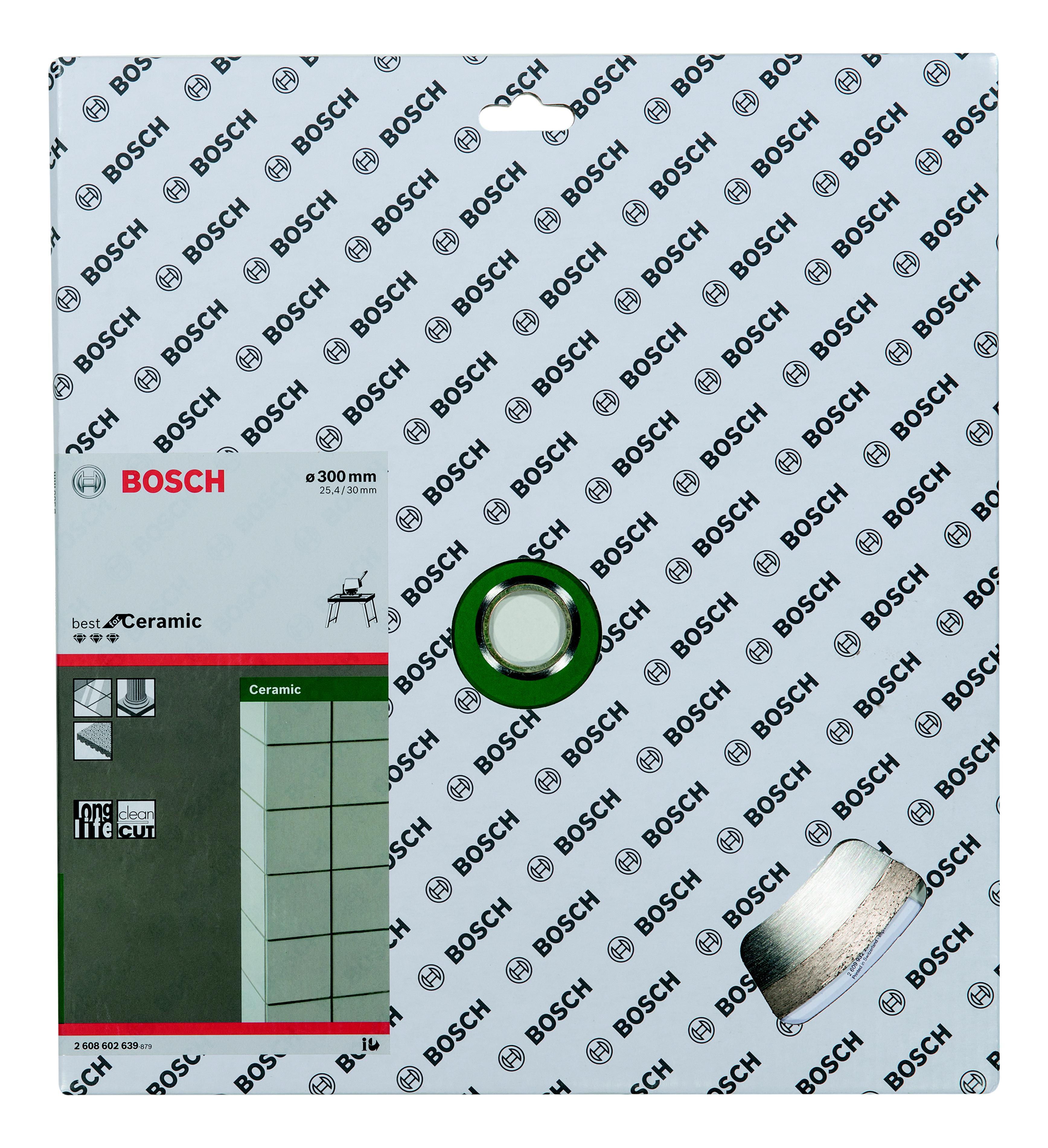 Круг алмазный Bosch Best for ceramic 300x25.4/30 корона