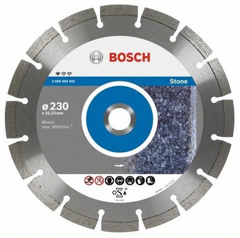 Круг алмазный Bosch Standard for stone 115x22 сегмент (2.608.602.597) круг отрезной hammer flex 115 x 1 0 x 22 по металлу и нержавеющей стали 25шт