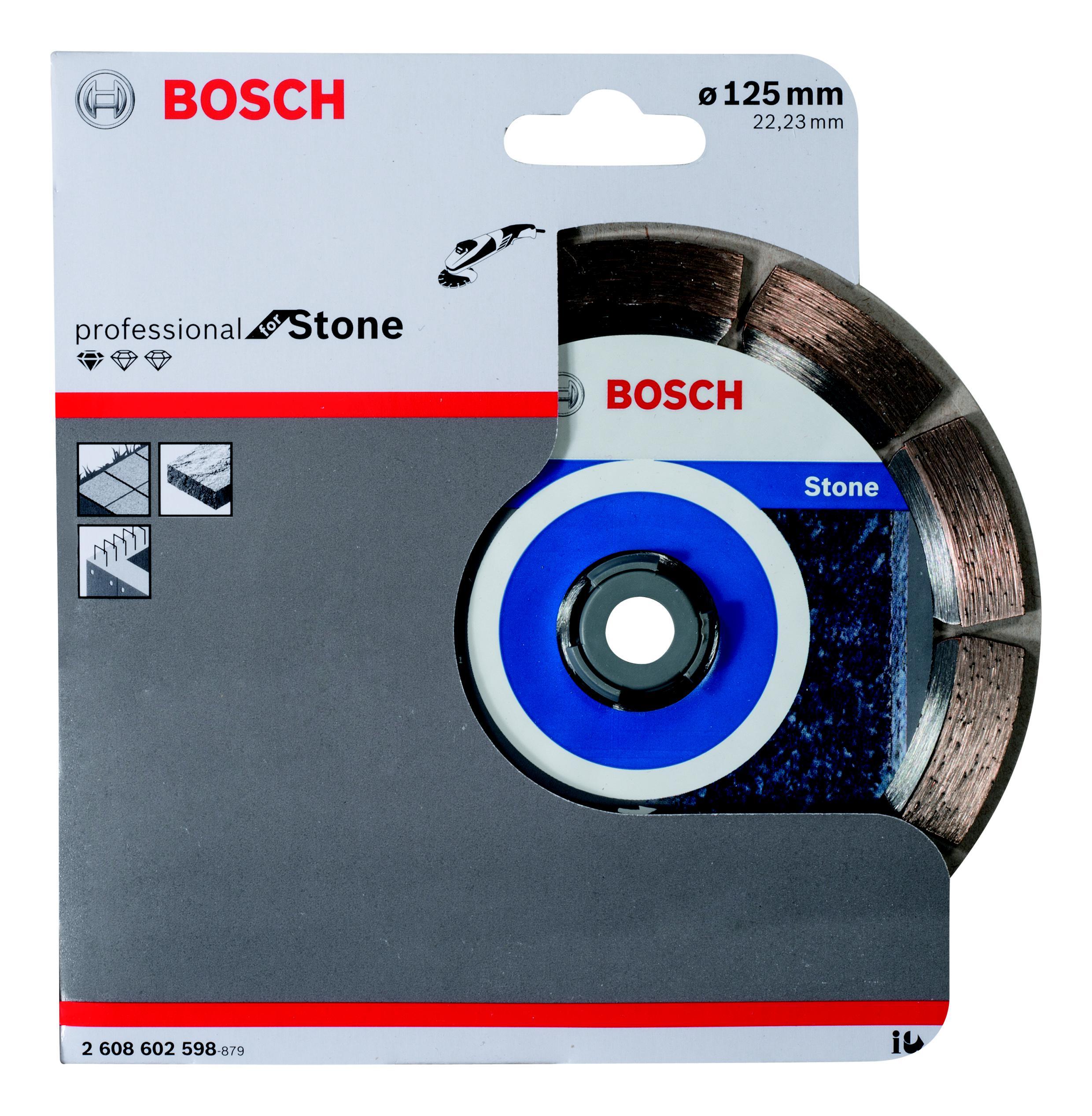 Круг алмазный Bosch Standard for stone 125x22 сегмент (2.608.602.598) круг алмазный bosch best for concrete 125x22 сегмент 2 608 602 652
