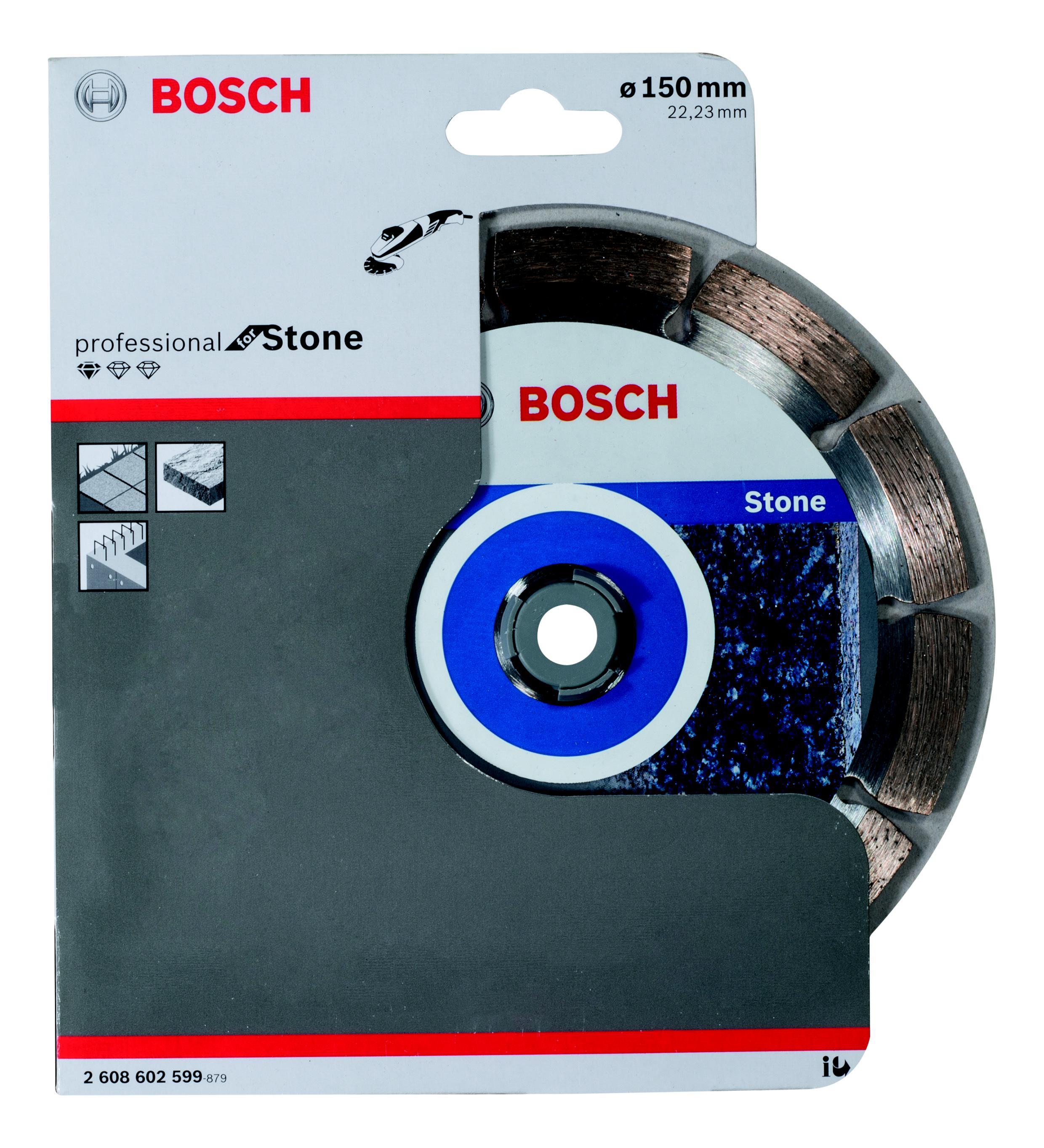 Круг алмазный Bosch Standard for stone 150x22 сегмент (2.608.602.599) sc32 150 airtac type standard air cylinder 32mm bore 150mm stroke sc32 150 single rod double action pneumatic cylinder sc 32 150