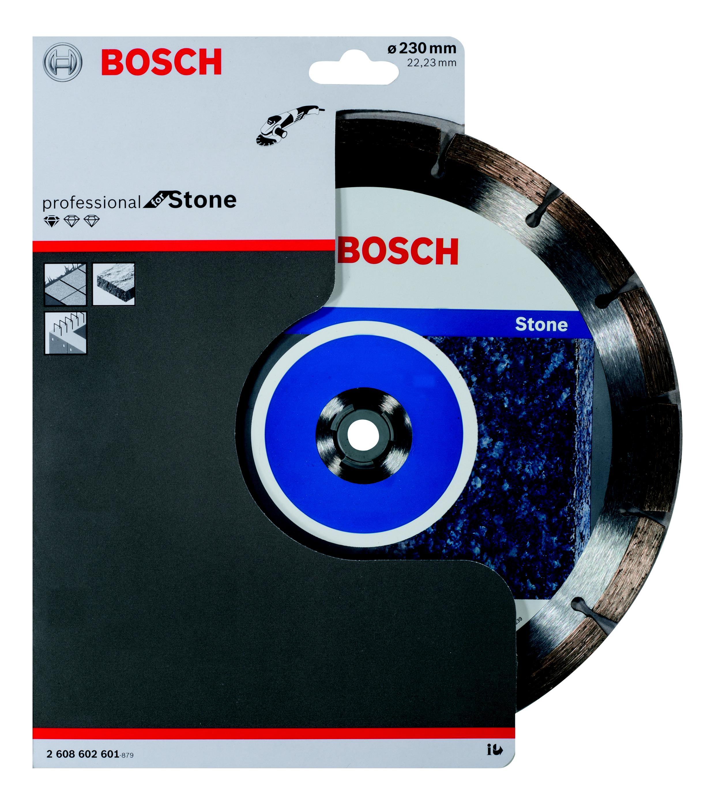 Круг алмазный Bosch Standard for stone 230x22 сегмент (2.608.602.601) шлифовальная машина bosch gss 230 ave professional