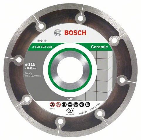 Круг алмазный Bosch Best for ceramic extraclean 115x22 корона (сплошной)(2.608.602.368) автомобильную тв антенну корона