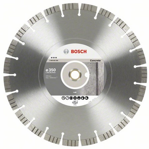 Круг алмазный Bosch Best for concrete 300x20/25.4 сегмент (2.608.602.657) bosch 52х450мм 1 1 4 best for concrete 2 608 601 359