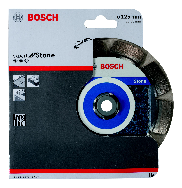 Круг алмазный Bosch Expert for stone 125x22 сегмент (2.608.602.589) круг алмазный bosch best for concrete 125x22 сегмент 2 608 602 652