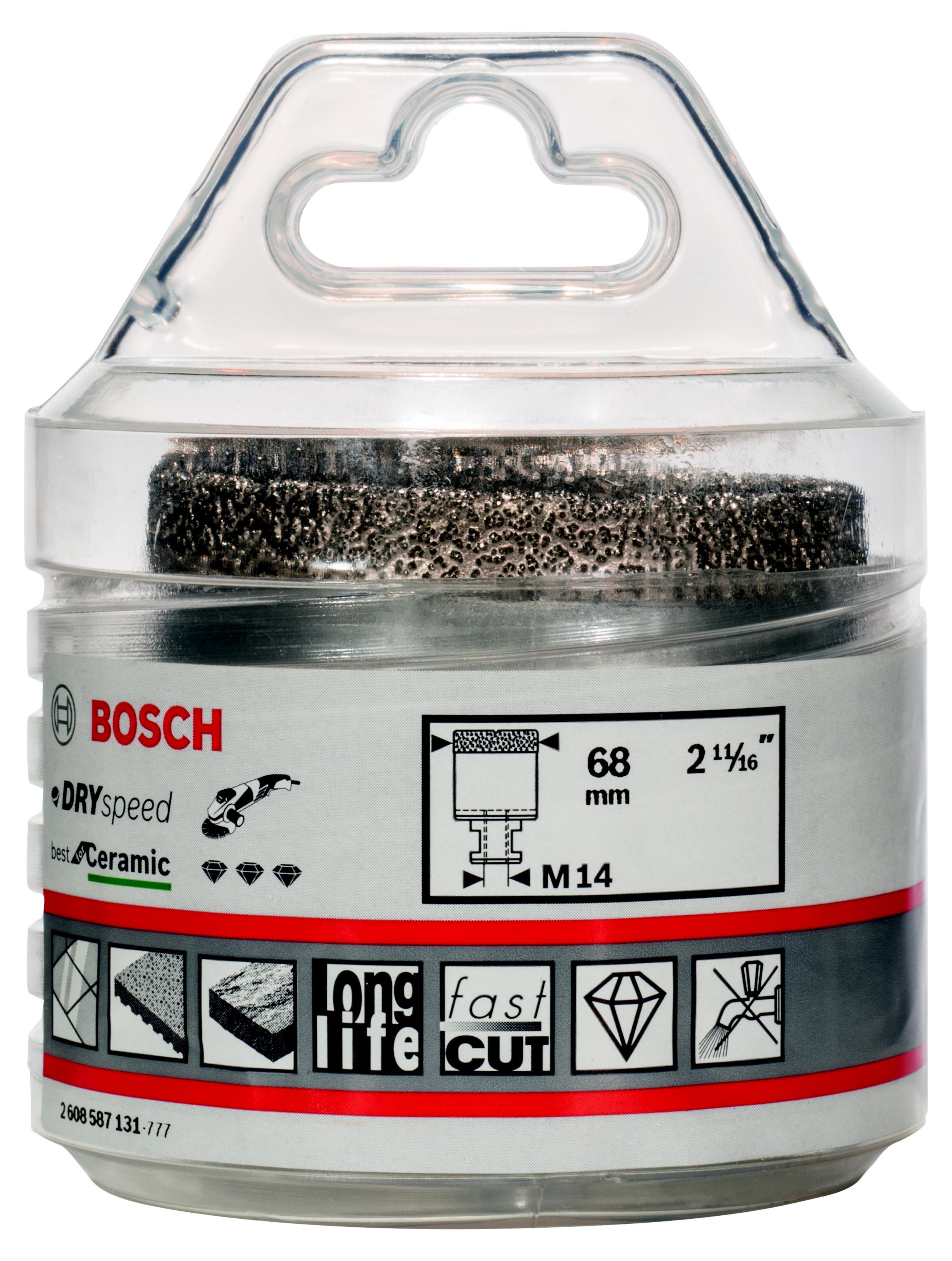 Коронка алмазная Bosch Dry speed 68мм (2.608.587.131) фен bosch starshine dry