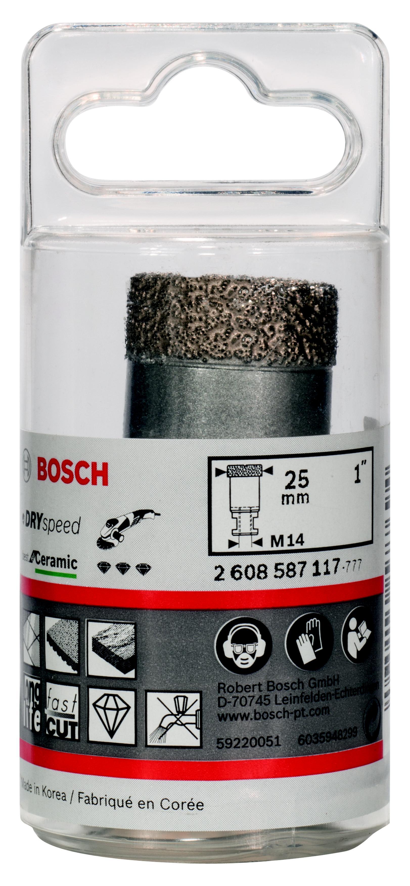 Коронка алмазная Bosch Dry speed 25мм (2.608.587.117) фен bosch starshine dry