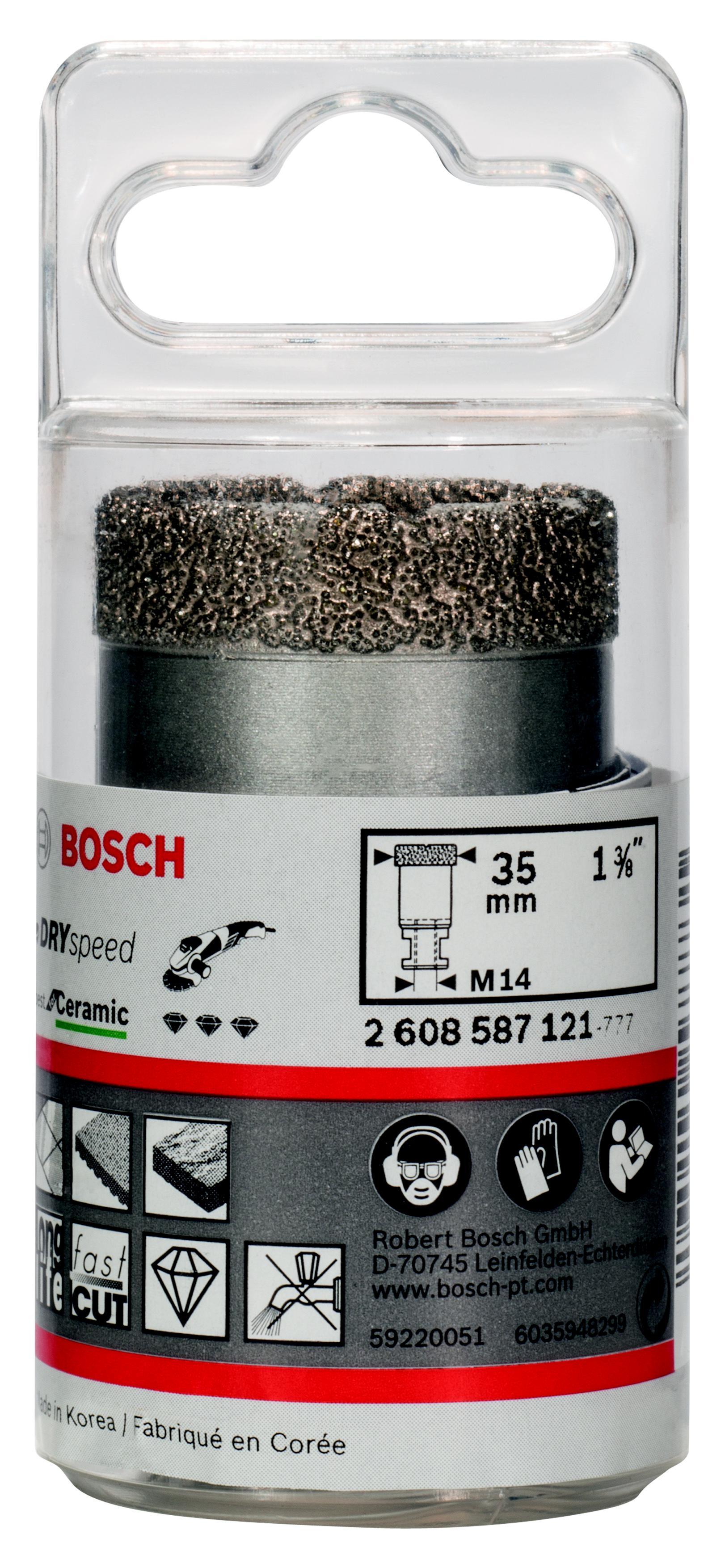 Коронка алмазная Bosch Dry speed 35мм (2.608.587.121) фен bosch starshine dry