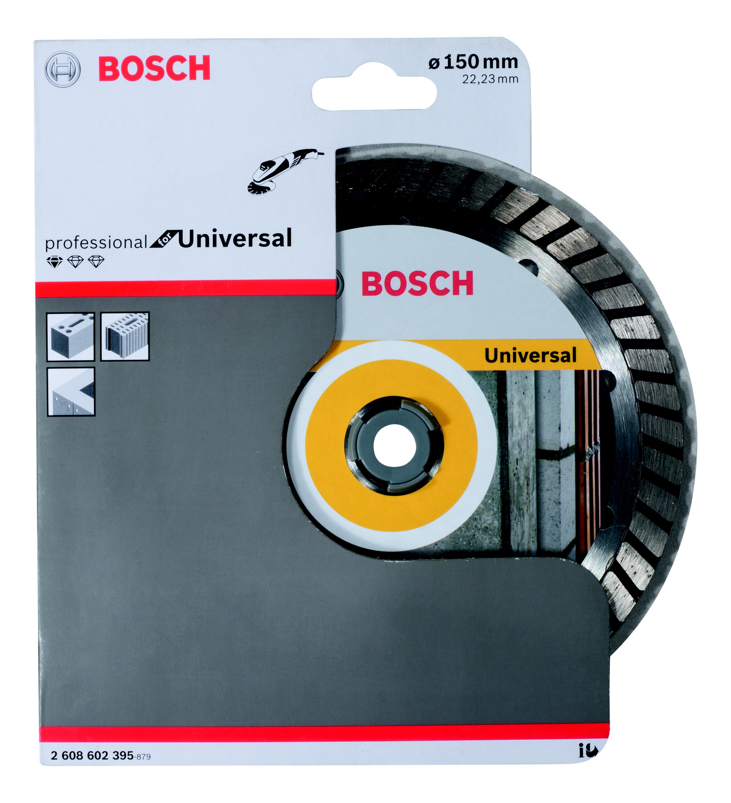 Круг алмазный Bosch Standard for universal turbo 150x22 турбо (2.608.602.395)