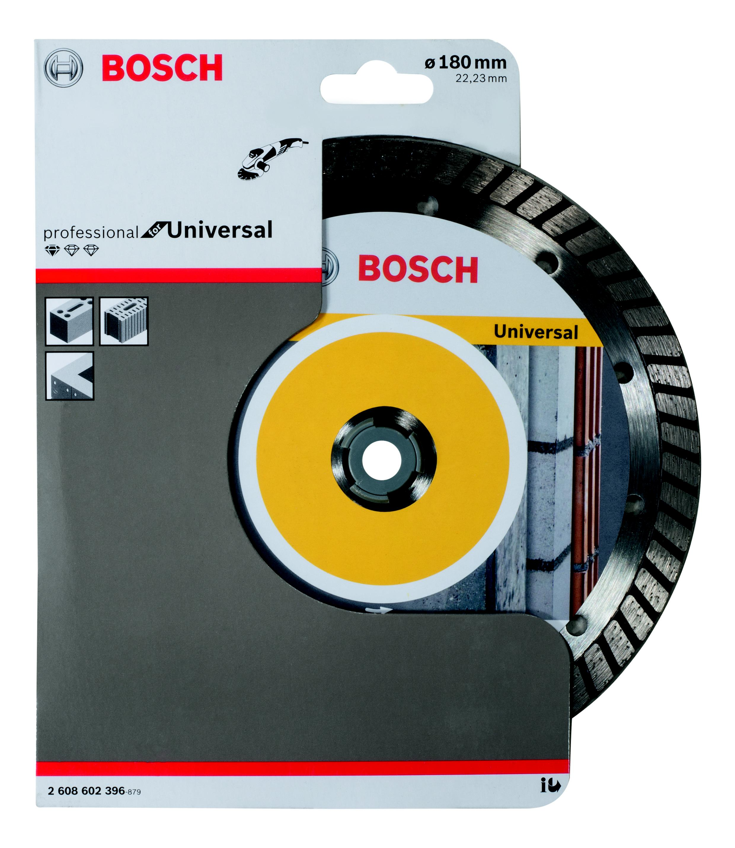 Круг алмазный Bosch Standard for universal turbo 180x22 турбо (2.608.602.396)
