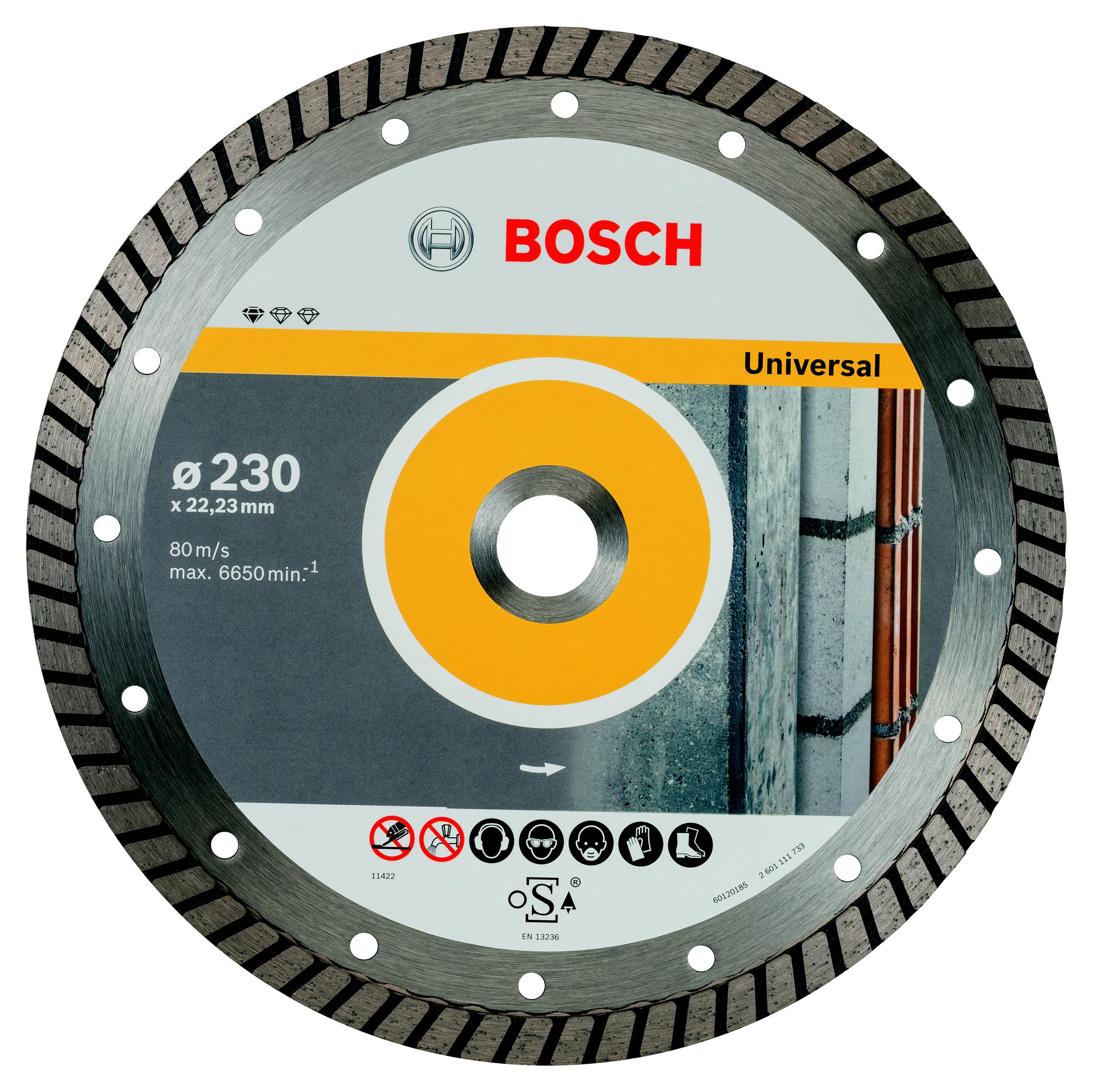 Круг алмазный Bosch Standard for universal turbo 230x22 турбо (2.608.602.397)