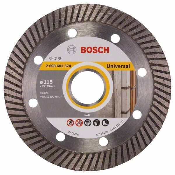 Круг алмазный Bosch Expert for universal turbo 115x22 турбо (2.608.602.574) turbo cartridge gt1752s turbo chra 733952 710060 710060 5001s 28200 4a001 28200 4a101 turbo core for hyundai h 1 starex crdi